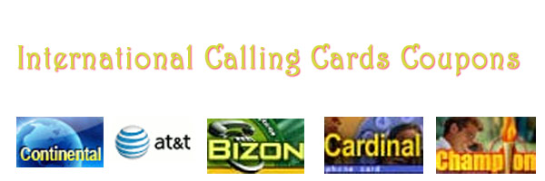 international calling cards coupons